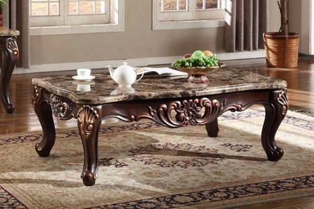 "Lyon 285-c 55"" Coffee Table With Cabriole Style Legs Carved Detailing And Hand Crafted In"