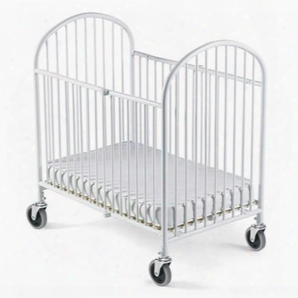 "Pinnacle Collection 1311097 55"" Folding Full Size Steel Crib With 4"" Casters And 360 Degree Welding Process In"