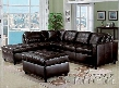 152003 Milano Espresso Bonded Leather Match Right & Left Facing Sectional