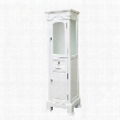 205065-TOWER-WH Linen Cabinet - Wood -