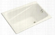 "K-1490-X-BI Greek Collection 48"" Drop In Soaking Bath Tub with Reversible Drain:"