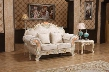 "Milan 657-L 73"" Loveseat with Solid Wood Hand Crafted Designs Imported Fabrics and Removable Backs in"