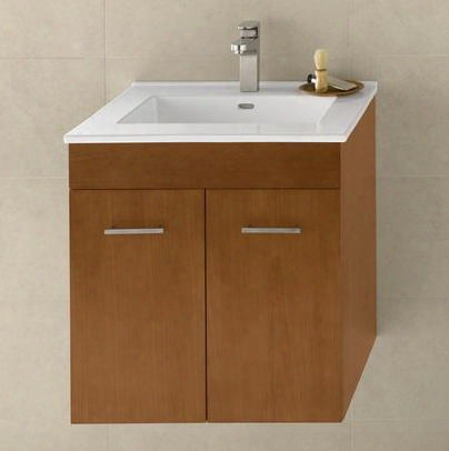 "011223-f08 Bella 23"" Wall Mount Vanity Cabinet With Hidden Drawer:"