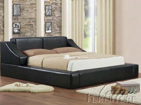 20280q Franco Queen Bed - Platform Black
