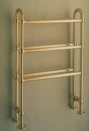 B30-sn Buttermere Traditional Hydronic Towel Warmer: Satin