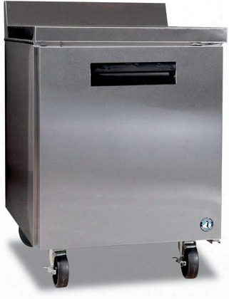 "Crmf27-w 27"" Commercial Series Worktop Freezer With 7.2 Cu. Ft. Capacity Anodized Aluminum Interior 1 Adjustable Shelf 115 Volts And Automatic Defrost:"