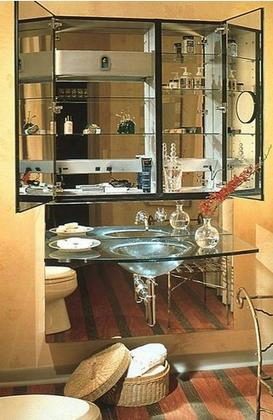 """Mp24d8fple 23 1/4"""" Single Door Mirrored Medicine Cabinet With Beveled"""