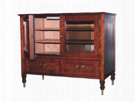 Vt-antiquecab Antique Cigar Cabinet With Slotted Adjustable Shelves Lockset Included & Drawer For Bulk Cigar