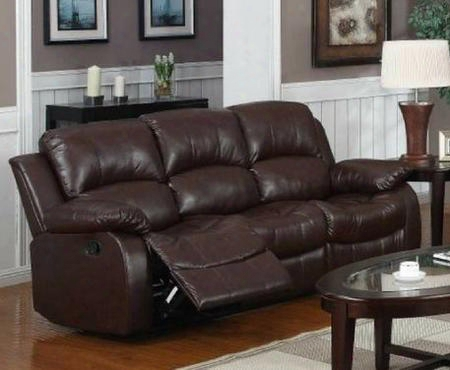 "1070s-brn Kaden 80"" Brown Bonded Leather Reclining"
