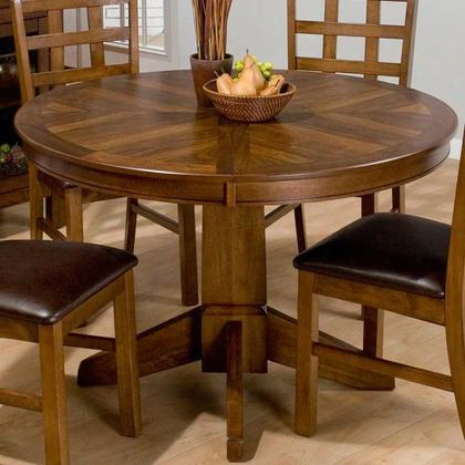 "737-66 Wenatchee Falls Walnut 48"" Round Dining Table With Butterfly Leaf Extension And Pedestal Base In"