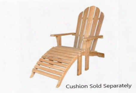 "Ad-036 29"" Adirondack With Ottoman Deep Curved Seat And Low Flat Arms In Natural"