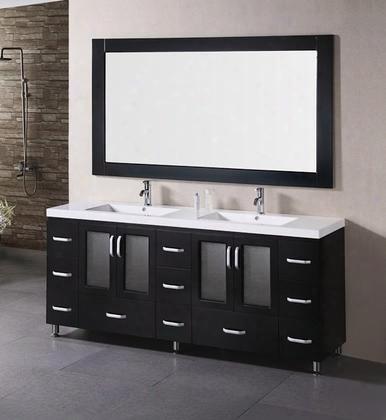 """B72-ds Stanton 72"""" Double Sink Vanity Set In"""