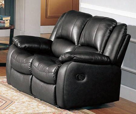 "Cl8813l-bk Clermont 59"" Recliner Loveseat In"