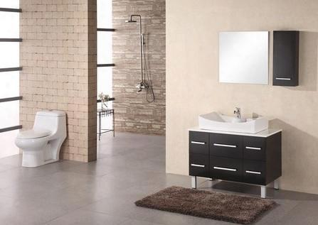 """Dec012a Paris 36"""" Single Sink Vanity Set In"""
