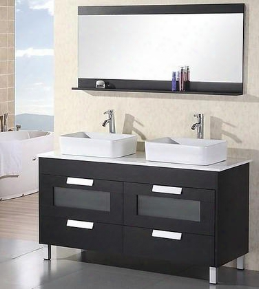 "Dec019 Francesca 55"" Double Sink Vanity Set In"