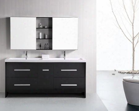 Dec079b Perfecta 72' Double Sink Vanity Set In
