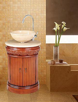 Gm-2211-23-tr Stufurhome 23 Inch Edwina Single Sink Vanity With Travertine Marble