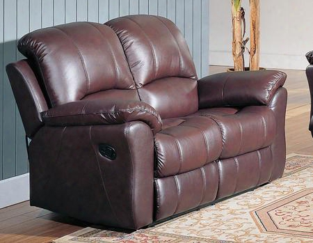 "Ke8896l-br Kent 60"" Recliner Loveseat In"