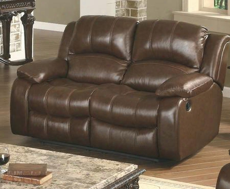 "Se8251l-br Sebastian 64"" Recliner Loveseat In Dark"