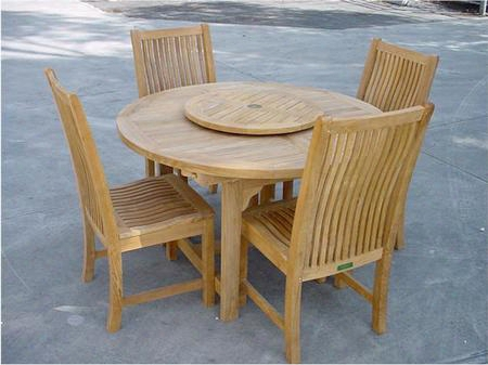 "Set-12 5-piece Dining Set With Bahama 67""; Oval Extension Table And 4 Chicago Dining"