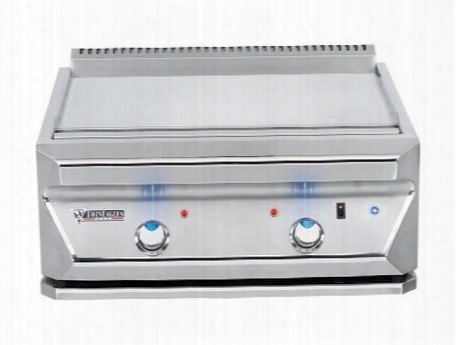 "Tetg30-b-ng 30"" Natural Gas Tepanyaki Grill With 40000 Total Btus Of Heat Two Burners Cover Led Control Panel Lights And Stainless Steel"