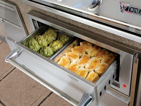 "Tewd42cb 42"" Warming Drawer Combo With 2.1 Cu. Ft. Capacity 2 Steam Pans Concealed Thermostat Control And Glide Out Trash/tank Holder In Stainless"