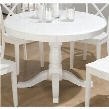 "662-66 Casper 48"" Round-to-Oval Dining Table with Pedestal Base Butterfly Leaf Extension and Solid Wood Construction in"