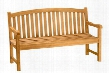 "Chelsea Collection BH-004R 47"" 2-Seater Bench with Curve Back Style Stretchers and Wooden Dowel in Natural"