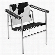 EEI-633-BLP Charles Pony Hide Lounge Chair in Black And White