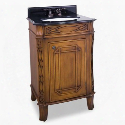 "Van047 24"" Hamilton Toffee Vanity With Preassembled Top And"