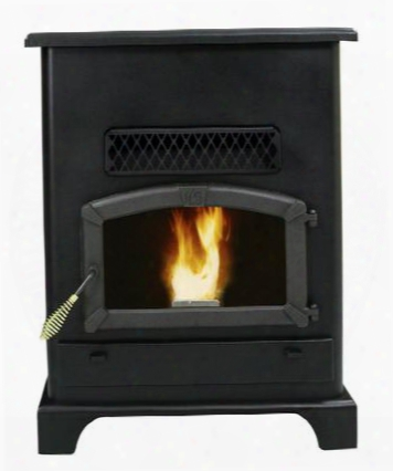 5520 120 Lbs Hopper Capacity Large Pellet Stove With Large Viewing Window Air Wash Glass Ash Pan And A 5 Heat Setting Digital Control