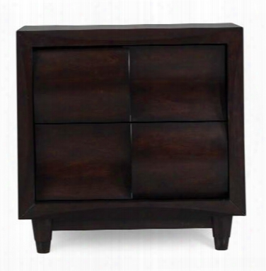 B1794-01 Fuqua Two Drawer Nightstand In Black
