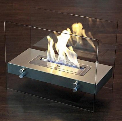 "Br-06 Murano Series 23.5"" Wide Portable Bioethanol Fireplace: Antique"