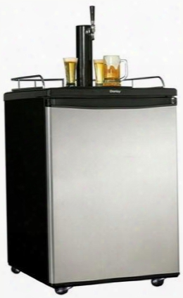 "Dkc5811bsl 25"" Keg Cooler With 5.8 Cu. Ft. Capacity Automatic Defrost Reversible Door Black/chrome  Beer Tower Dispenser Drip Tray And Scratch Resistant"