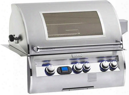 E660i-4e1p-w Echelon Series Built In Liquid Propane Grill 660 Sq. In. Cooking Area With A Rotisserie Backburner And Cast E Burners And View Window: Stainless