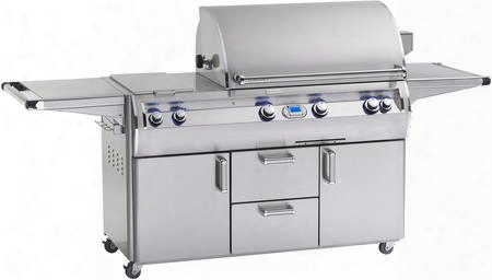 "E790s-4e1n-71 98"" Echelon Diamond Series Cart With 36"" Natural Gas Grill 96000 Total Btu  Double Side Burners 792 Sq. In. Cooking Area And Digital Thermostat"