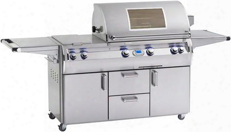 "E790s-4e1n-71-w 98"" Echelon Diamond Series Cart With 36"" Natural Gas Grill 96000 Total Btu Double Side Burners 792 Sq. In. Cooking Area And Digital"