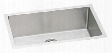"Efru2816 Avado Stainless Steel 30-1/2' Undermount Single Basin Kitchen Sink With 8"" Depth And Rounded Basin"