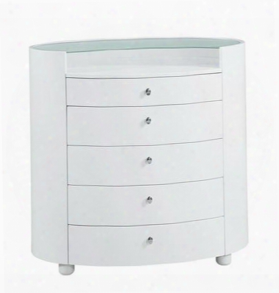 Evelyn Chest Of 5 Drawers In Glossy