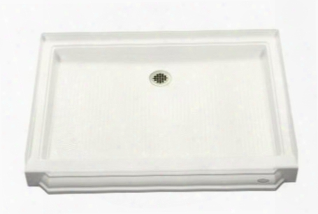 "K-9549-w Memoirs Shower Receptor With Center Drain 48"" X 34"":"