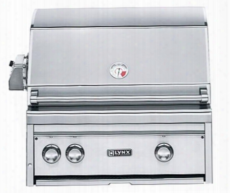 "L27psr-3lp 27"" Professional Series Built-in Grill With 1 Brass Burner 1 Prosear2 Burner And Rotisserie 685 Sq. In. Cooking Surface And Halogen Grill Light"