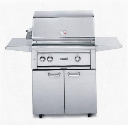 "L30psfr-2lp Professional Series 30"" Freestanding Grill On Cart 2 Burners And Rotisserie 840 Sq. In. Cooking Area Grill Lights And Control Lights With Blue"