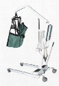 13242 Battery Powered Electric Patient Lift With Rechargeable And Removable Battery With Wall