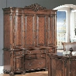 AN333CH Angelina Credenza and Hutch in Cherry