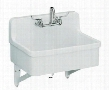 "K-12787-W Gilford scrub-up/plaster sink with two-hole faucet drilling 30"" x 22"":"
