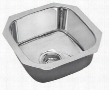 SCUH1416SH Undermount Single Bowl Sink Stainless Steel with Hammered Mirror