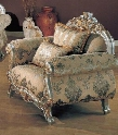 VY2200C Victory Fabric Chair in Silver and Gold