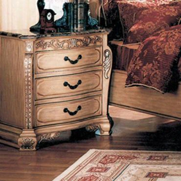W6013n Isabella Whitewash Nightstand With Marble