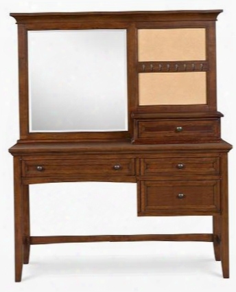 Y1873-48d Riley Next Generation Youth Desk With Vanity Mirror In