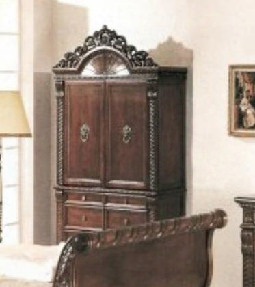 1804tv Bailey Tv Armoire In Red Cherry